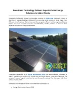 evengreen technology delivers superior solar