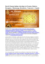 best famous indian astrologer in toronto ontario