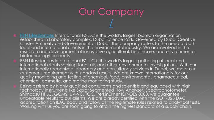 our company n.