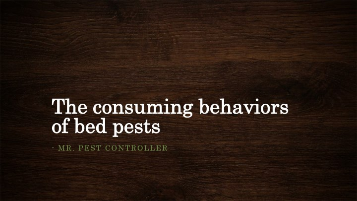 the consuming behaviors the consuming behaviors n.