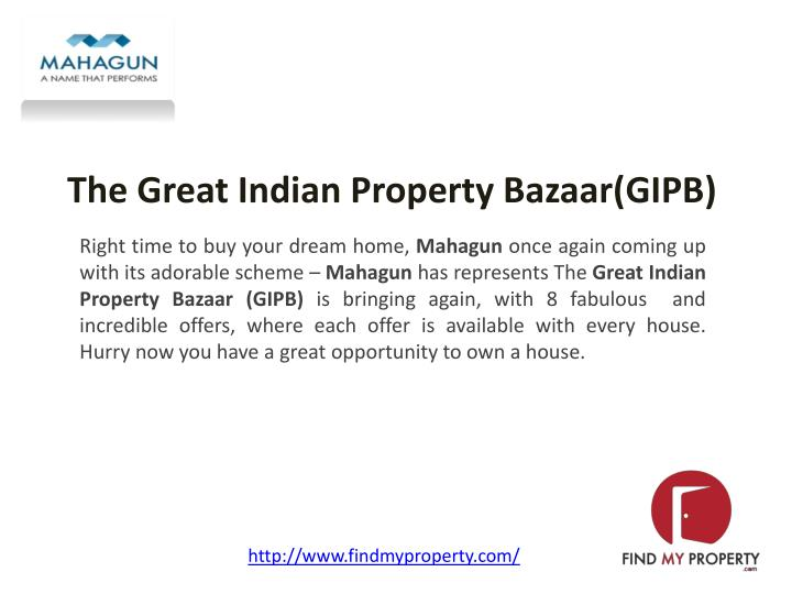 the great indian property bazaar gipb n.