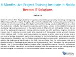 6 months live project training institute in noida 1