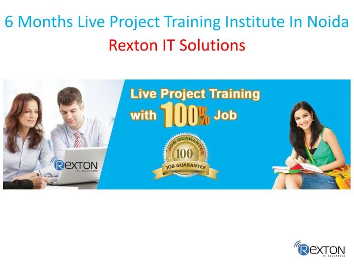 6 months live project training institute in noida n.