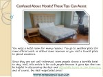 confused about hotels these tips can assist