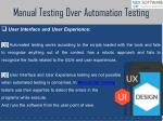 manual testing over automation testing 1