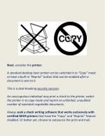 next consider the printer a standard desktop