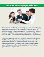 payments can significantly impact employee