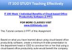 it 200 study education specialist 1