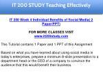 it 200 study education specialist 12
