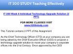 it 200 study education specialist 15