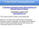 it 200 study education specialist 17