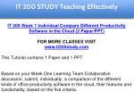 it 200 study education specialist 3