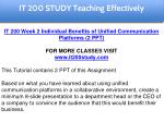it 200 study education specialist 5