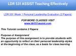 ldr 531 assist education specialist 12