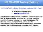 ldr 531 assist education specialist 23
