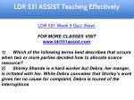 ldr 531 assist education specialist 26