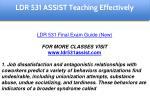 ldr 531 assist education specialist 4