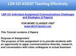 ldr 531 assist education specialist 6