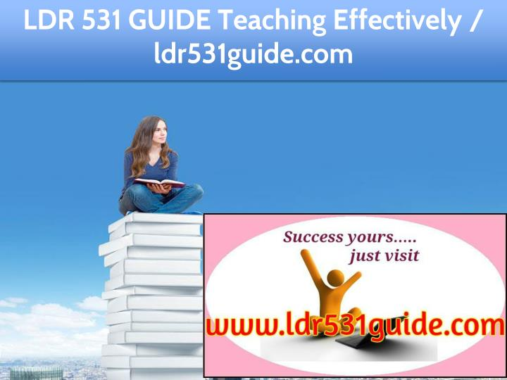 ldr 531 guide education specialist ldr531guide com n.