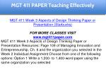 mgt 411 paper education specialist 12