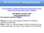 psy 450 outlet education specialist 3