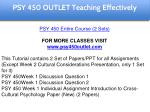 psy 450 outlet education specialist