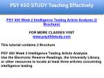 psy 450 study education specialist 6
