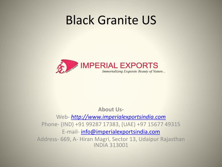 black granite us n.