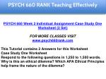 psych 660 rank education specialist 2