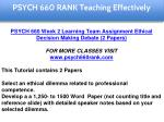 psych 660 rank education specialist 3