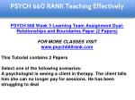 psych 660 rank education specialist 6