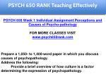 psych 650 rank education specialist 1