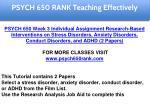 psych 650 rank education specialist 4
