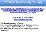 psych 650 rank education specialist 5