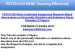 psych 650 rank education specialist 7