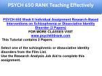 psych 650 rank education specialist 9