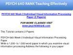 psych 640 rank education specialist 2