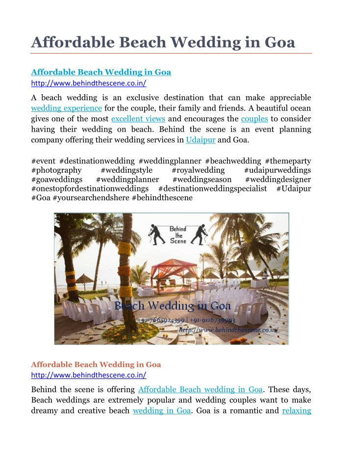 affordable beach wedding in goa n.