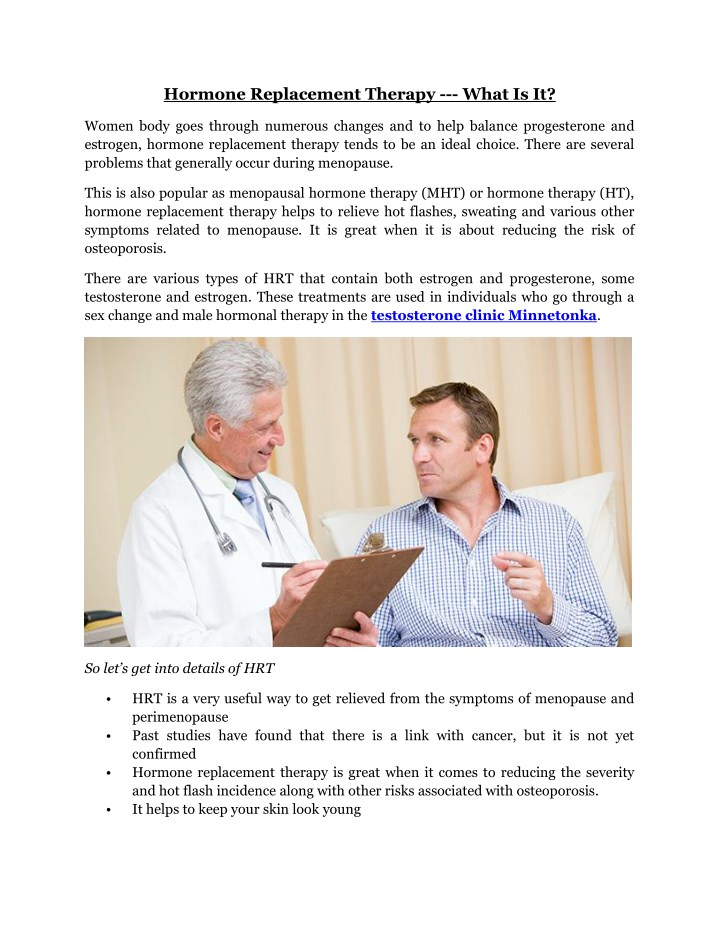 hormone replacement therapy what is it n.