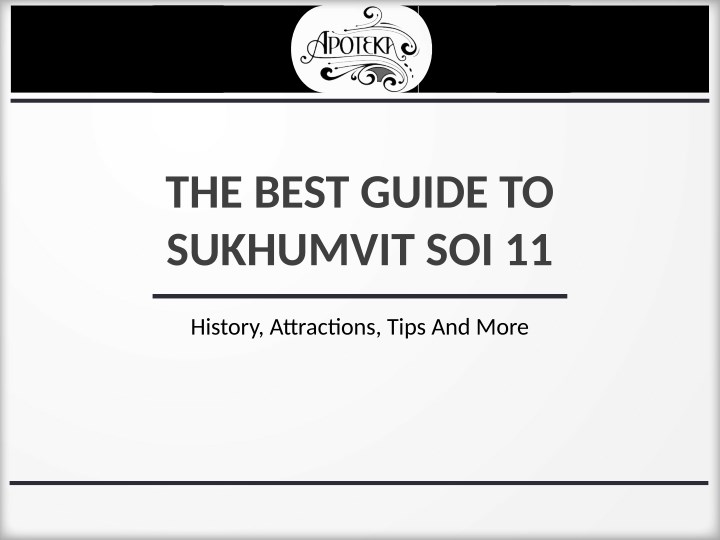 the best guide to sukhumvit soi 11 n.