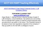 acct 504 mart teaching effectively 16