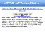 acct 504 mart teaching effectively 20