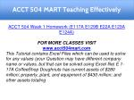 acct 504 mart teaching effectively 9