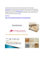 imperial exports india provides sandstone