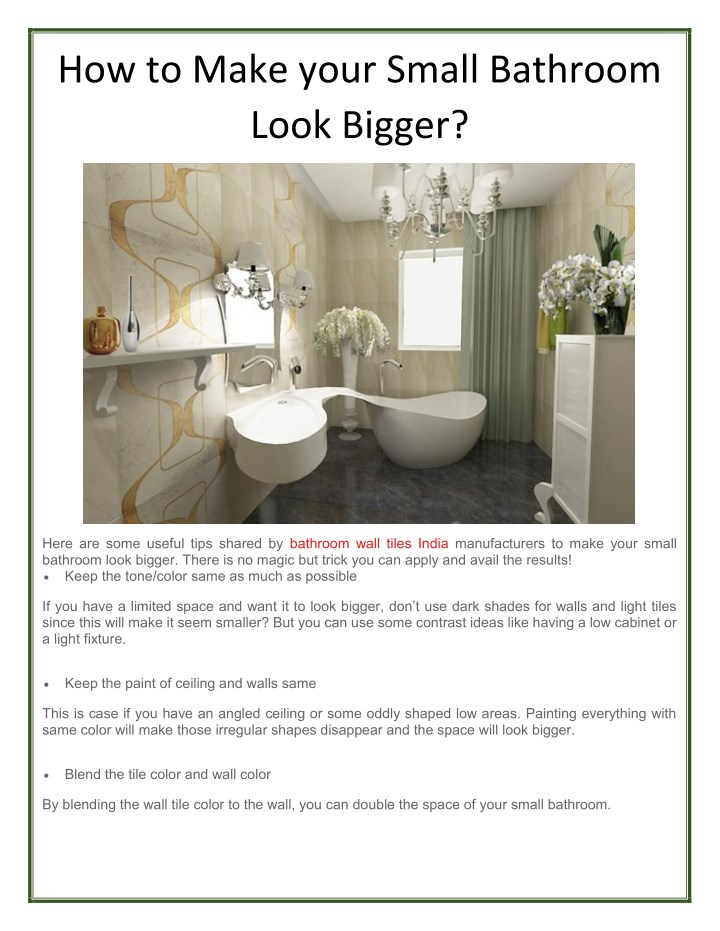 how to make your small bathroom look bigger n.