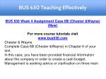 bus 630 teaching effectively 9