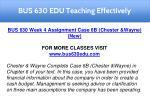 bus 630 edu teaching effectively 10