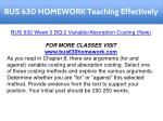 bus 630 homework teaching effectively 10