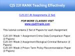 cjs 231 rank teaching effectively