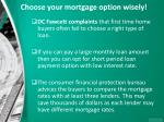 choose your mortgage option wisely